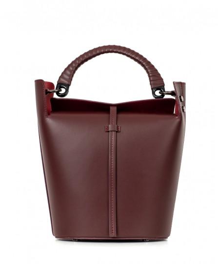 Кожаная женская сумка-ведро 93131