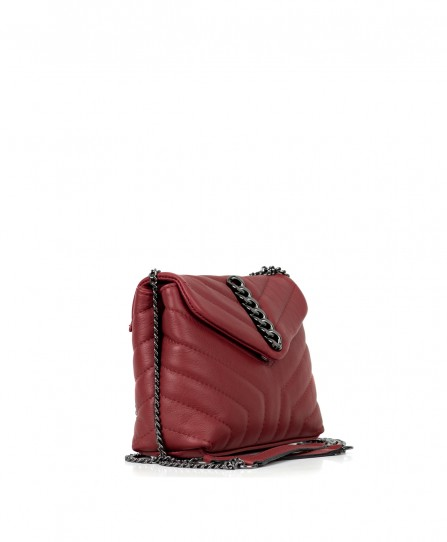 Шкіряна жіноча сумка через плече 93266