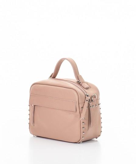 Шкіряна жіноча сумка через плече 92123Be