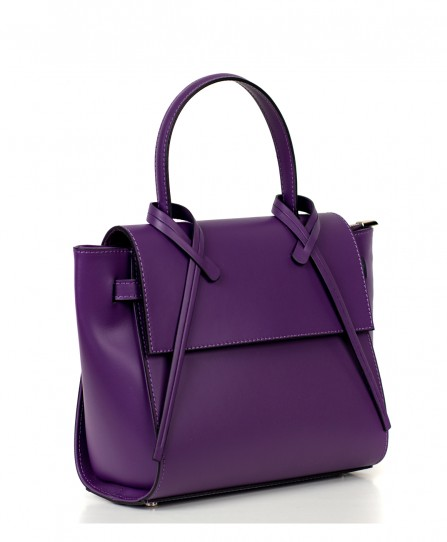 Leather satchel for women 92765