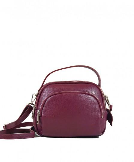 Шкіряна жіноча сумка через плече 93730Cl