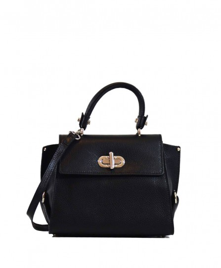Шкіряна жіноча сумка через плече 91489Black