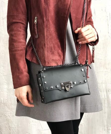 Шкіряна жіноча сумка через плече 92813