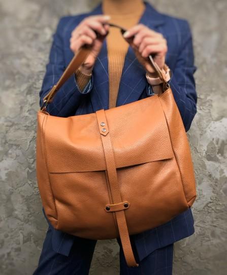 Шкіряна жіноча сумка м'яка 93277G