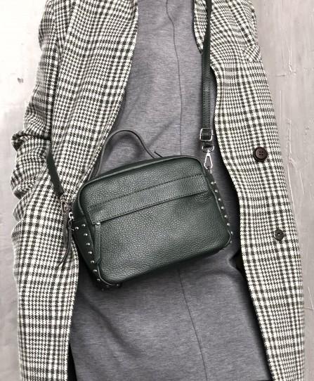 Шкіряна жіноча сумка через плече 92123W