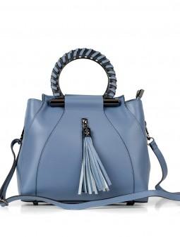 Шкіряна жіноча сумка з китицею 93216