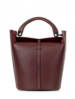 Leather women's bucket bag 93131