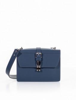 Шкіряна жіноча сумка через плече 93165BL