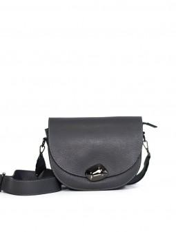 Кожаная женская сумка через плечо с широкой шлейкой 93678G