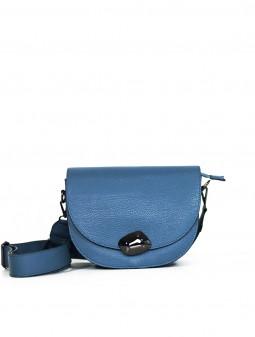 Кожаная женская сумка через плечо с широкой шлейкой 93678Bl