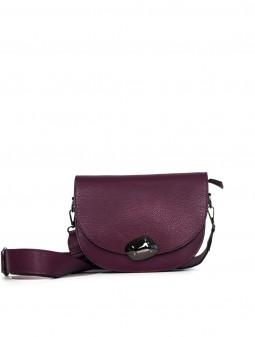 Шкіряна жіноча сумка через плече з широкою шлейкою 93678Cl