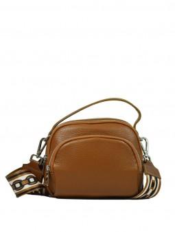 Кожаная женская сумка через плечо с широкой шлейкой 93730